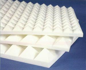 akustar panneau relief pyramidal en mousse de m lamine. Black Bedroom Furniture Sets. Home Design Ideas